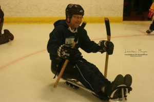 Excitment of playing sled hockey for the first time